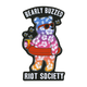 RIOT SOCIETY Bearly Buzzed Sticker