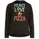 FULL TILT Peace Love Pizza Girls Hoodie