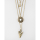 FULL TILT 3 Row Arrow/Circle/Triangle Necklace