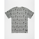 ROOK x Peanuts Gang Skate Allover Mens T-Shirt