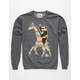 RIOT SOCIETY Native Panda Giraffe Mens Sweatshirt