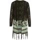 FULL TILT Border Print Girls Fringe Sweater Wrap