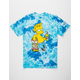 NEFF x The Simpsons Acid Blue Chillin Mens T-Shirt