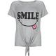 FULL TILT Smile Girls Tie Front Tee
