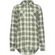 FULL TILT Two Tone Plaid Tunic Girls Flannel Shirt