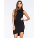 SAY WHAT Cowl Neck Sleeveless Dress