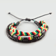 BLUE CROWN 3 Piece Rasta Bracelets