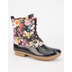 ADRIANA Dylan Womens Floral Duck Boots