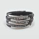 FULL TILT 7 Strand Faux Leather Bracelet