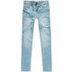 Celebrity Pink Light Wash Destruct Skinny Jeans