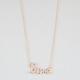 FULL TILT Rhinestone Cursive Love Necklace