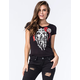 FAMOUS STARS & STRAPS X MISFITS  STATIC JRS Womens V-Neck Tee
