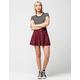 FULL TILT Button Front Suede Womens Skater Skirt