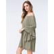 BLU PEPPER Off The Shoulder Woven Dress