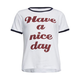 FULL TILT Have A Nice Day Girls Ringer Tee