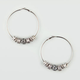 FULL TILT Filigree Fireball Hoop Earrings