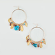 FULL TILT Agate/Leaf Dangle Hoop Earrings