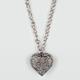 FULL TILT Stone Heart Braid Chain Necklace