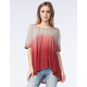 BLU PEPPER Womens Ombre Knit Tee