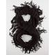 Half Open Knit Fringe Scarf