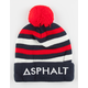 ASPHALT YACHT CLUB Mens Stripes Pom Beanie