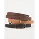 3 Reversible Skinny Belts