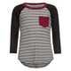 H.I.P. Girls Stripe Raglan Tee