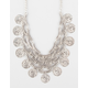 FULL TILT Scalloped Coin Statement Necklace