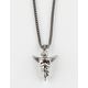 THE GOLD GODS Gun Metal Edition Micro Angel Piece Necklace