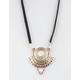 FULL TILT Suede Coin Pendant Necklace