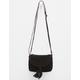 Suede Saddle Crossbody Bag