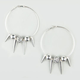 FULL TILT Sham Ball Spike Hoop Earrings