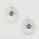 FULL TILT Sham Ball Revolving Hoop Earrings