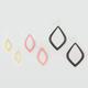 FULL TILT 3 Pair Glitter Teardrop Earrings