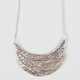 FULL TILT Textured Crescent Bib Necklace