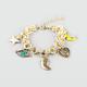 FULL TILT Star/Moon/Eye Charm Bracelet
