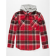ELEMENT Woodland Flex Mens Hooded Flannel Shirt
