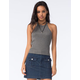 FULL TILT Essential Womens Ribbed Sweater Tank
