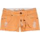 VANILLA STAR Belted Fray Hem Womens Shorts