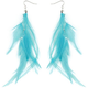 FULL TILT Dangling Feather Earrings