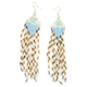 FULL TILT Seed Bead Dangle Earrings