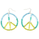FULL TILT Seed Bead Peace Earrings