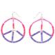 FULL TILT Seed Bead Peace Earrings