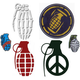 GRENADE Six Pack 2.5 -4.5 Stickers