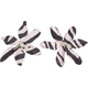 Zebra Plumeria Alligator Clips