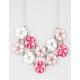 FULL TILT 2 Row Flower Statement Necklace