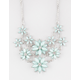 FULL TILT 2 Row Facet Flower Statement Necklace