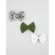 FULL TILT 3 Piece Chloe Bow Hair Clips