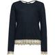 FULL TILT Cross Back Crochet Trim Girls Top