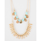 FULL TILT 2 Layer Coin/Turquoise Necklace
